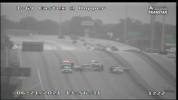 Eastex Freeway SB at Hopper Road reopens after closed for several hours following deadly crash