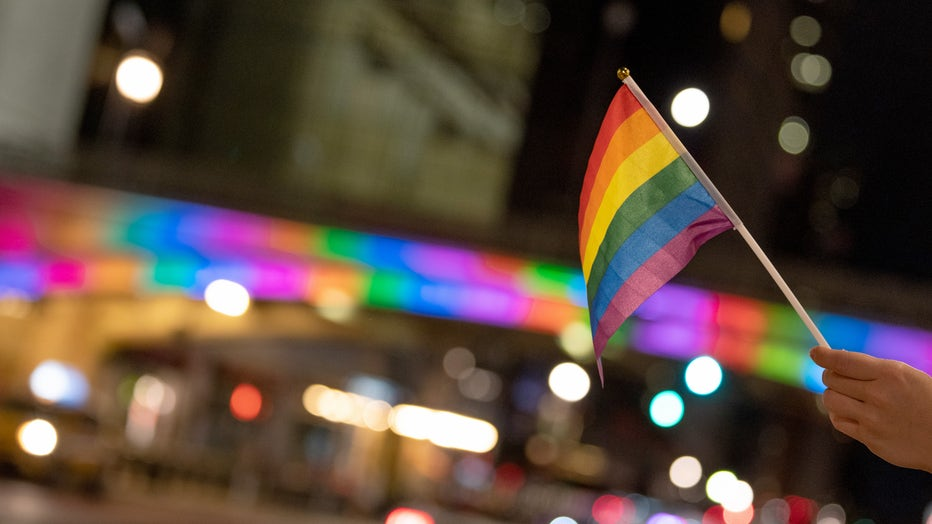 a549d757-New York City Lights Up In Support Of The 50th Anniversary Of The First Gay Pride March