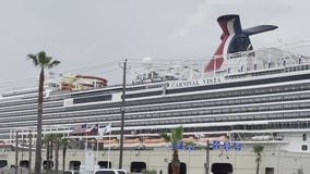 Cruise passengers sail away from Galveston for the first time in 16 months