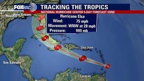 Elsa strengthens into first hurricane of the Atlantic season