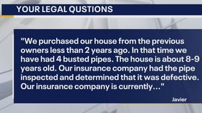 Your Legal Questions: Pipe bursts; apartment fees; disposition of shared property