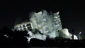 Explosives set off to bring down rest of collapsed Miami-area condo
