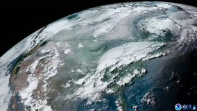 Satellite video shows smoke from western wildfires blowing across US