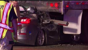 'Reckless' driver changing lanes on Katy Fwy smashes into back of big rig, killing the driver