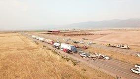 Utah sandstorm causes 22-vehicle pileup, killing at least 8 people