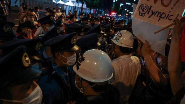 Anti-Olympics protests heard inside National Stadium during opening ceremonies