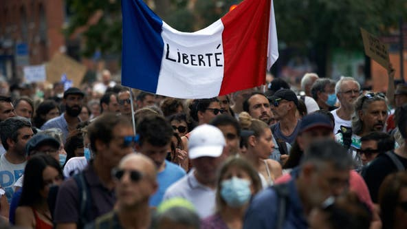France mandates COVID-19 vaccines for health care workers amid protests