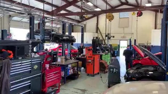 New car shortages, and rising used car prices, are making car repair garages very busy