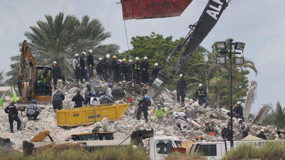 98c30176-Over One Hundred Missing After Residential Building In Miami Area Partially Collapses