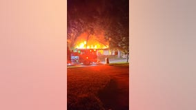 Neighbors woken up to northwest Houston home covered in flames, arson investigating