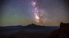 Stunning time-lapse shows Perseids meteors  streak across night sky