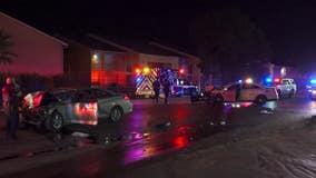 HCSO: Deputy, wrong-way driver taken to hospital after crash
