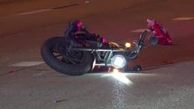 HPD: Motorcyclist struck woman walking on North Loop; both hospitalized
