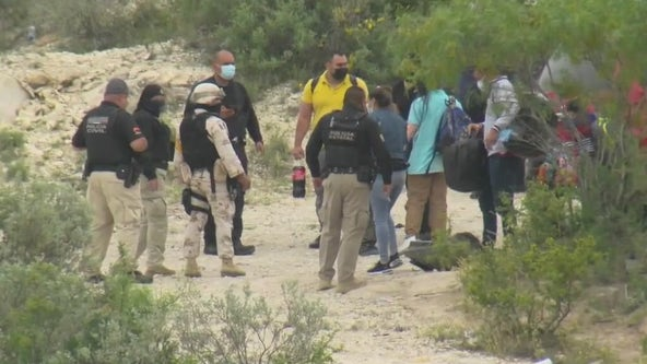 Tx National Guard at the border assisting with arrests