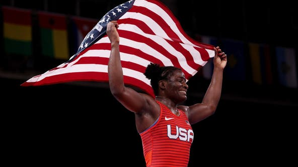Tamyra Mensah-Stock, of Katy, 1st Black U.S. woman wrestler to win gold