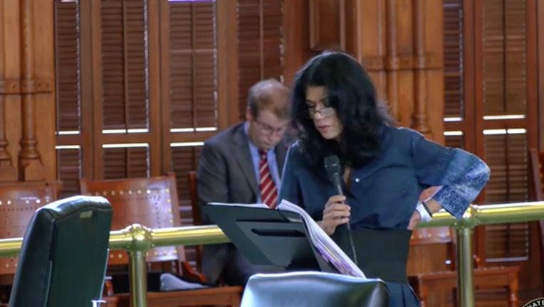 Texas Sen. Carol Alvarado holds filibuster over Texas voting bill.