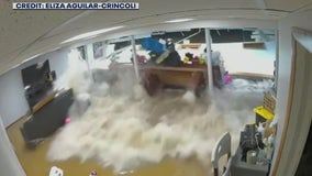 SHOCKING VIDEO: Ida floodwaters collapse wall of NJ home, trap mother and son