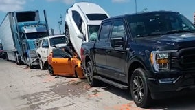 Pile-up on I-10 EB in Austin County stops traffic for miles