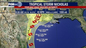 Tropical Storm Nicholas forms in Gulf of Mexico, expected to bring heavy rains to Houston