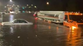 NYC flooding: Staten Island Costco parking lot underwater, stranding shoppers