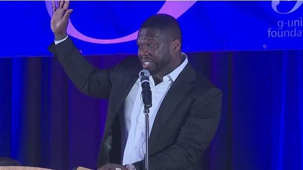 50 Cent in Houston for induction of entrepreneurs with HISD