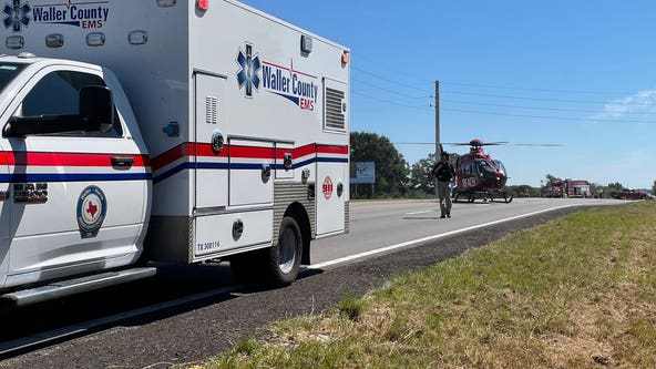 Pickup truck runs over 6 cyclists in Waller County, 4 people hospitalized