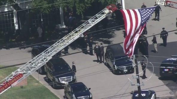 "HPD Chief Finner, officers escort body of fallen officer William ""Bill"" Jeffrey"