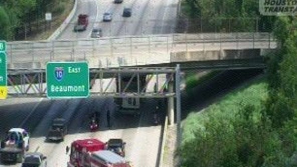 TxDOT: 'over-height' truck under bridge results in several lanes blocked on I-10 Katy Freeway