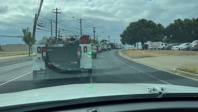 Austin Energy Crews Leaving For Houston 4