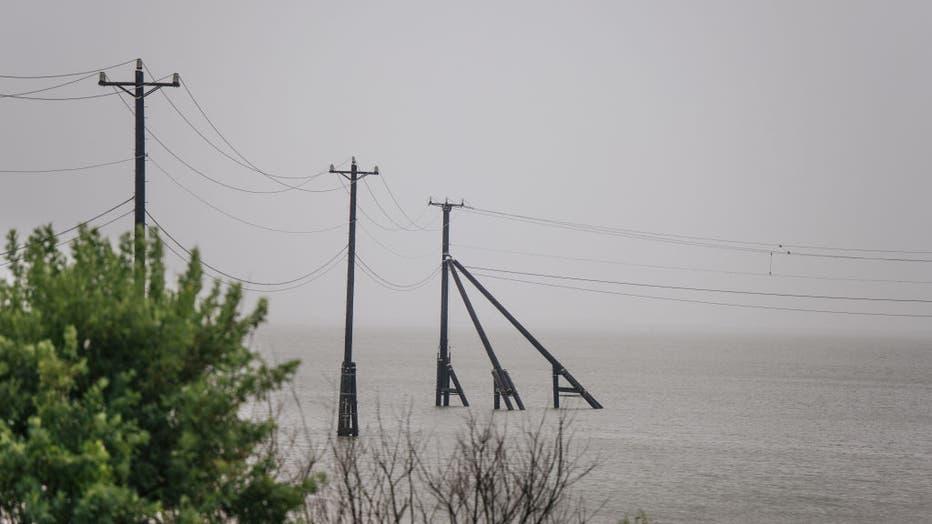 8702584f-Tropical Storm Nicholas Brings Heavy Rains To Texas
