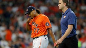 Astros' García exits ALCS Game 2 early with apparent injury