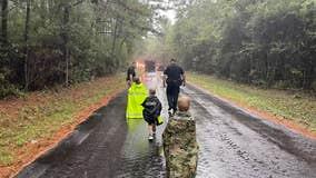 3 children found in the Sam Houston National Forest after spending night in the dark rain