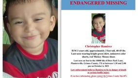 Search for missing 3-year-old boy in Grimes County enters third day
