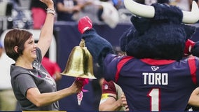 Local woman rings the end of cancer bell at a Houston Texans game