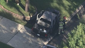 Man seriously burned in pickup truck fire, explosion in Atascocita