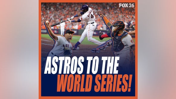 Astros players celebrate ALCS pennant