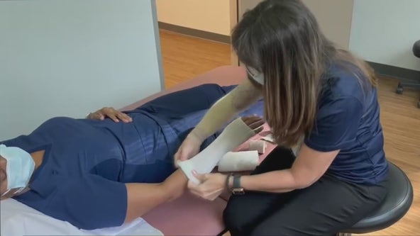 Breast cancer patient changes career to help patients like her, with lymphedema