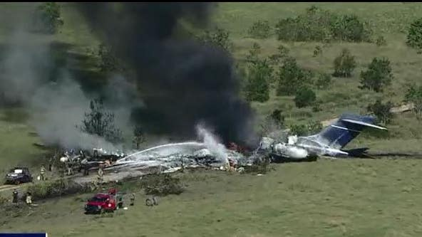 State, federal agents flock to Brookshire airport to figure out what caused morning plane crash
