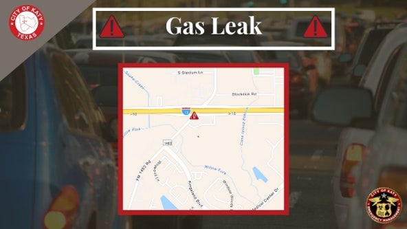 Gas leak in Katy forces road closure of FM 1463 at I-10 service road