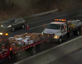 Tractor-trailer back upright, NJ Turnpike open again | FOX