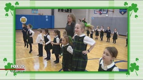 St. Catherine of Siena's Irish dance students get ready for St. Patrick's Day