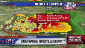 Tornado Warning in Bucks and Lehigh counties