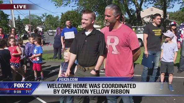 Two veterans get a welcome home surprise