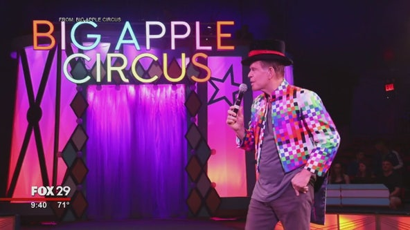 Mike plays Ring Master at Big Apple Circus
