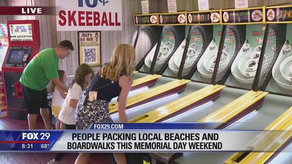 Thousands flock NJ beaches, boardwalks for Memorial Day Weekend