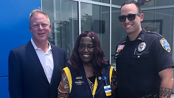 Walmart cashier who walked 9 miles to work gifted car after officer posted about giving her ride