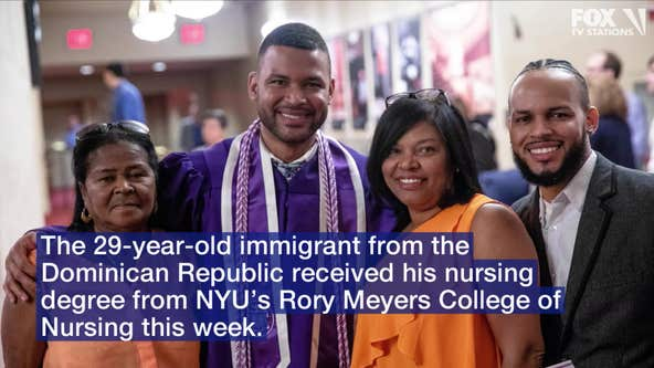 'Never give up': Man graduates from NYU nursing school after first working there as a janitor