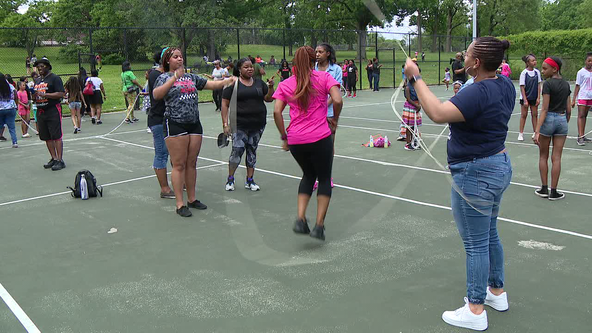 Philly Girls Jump in a Double Dutch Jump Off