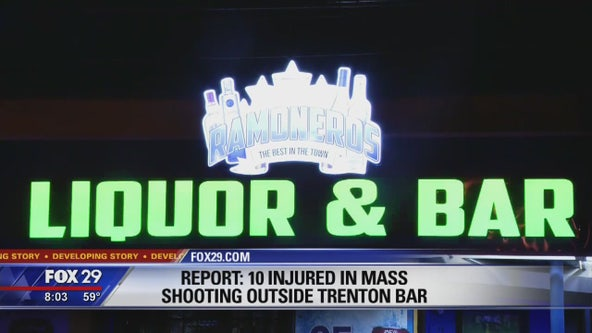 10 wounded following mass shooting outside Trenton bar