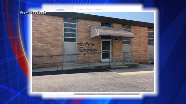 Police: Vandal defaces Delaware County church with pro-choice graffiti
